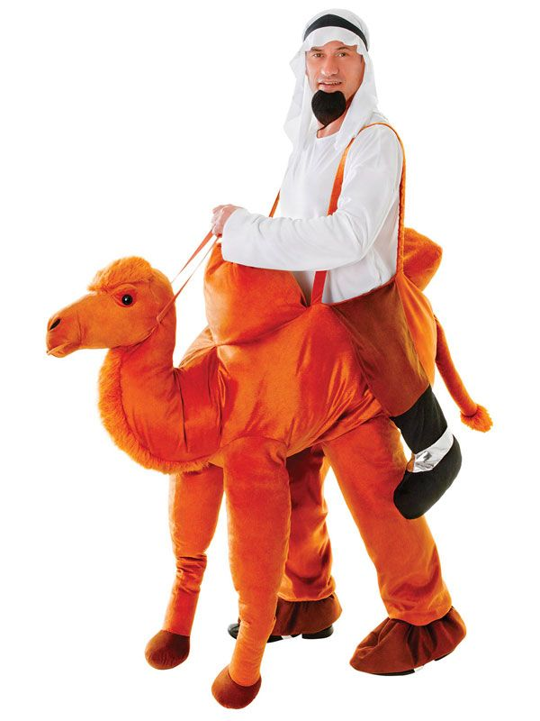 Camel Halloween Costume | Adult Novelty Step On Ride In Nativity Play Fancy Dress Camel