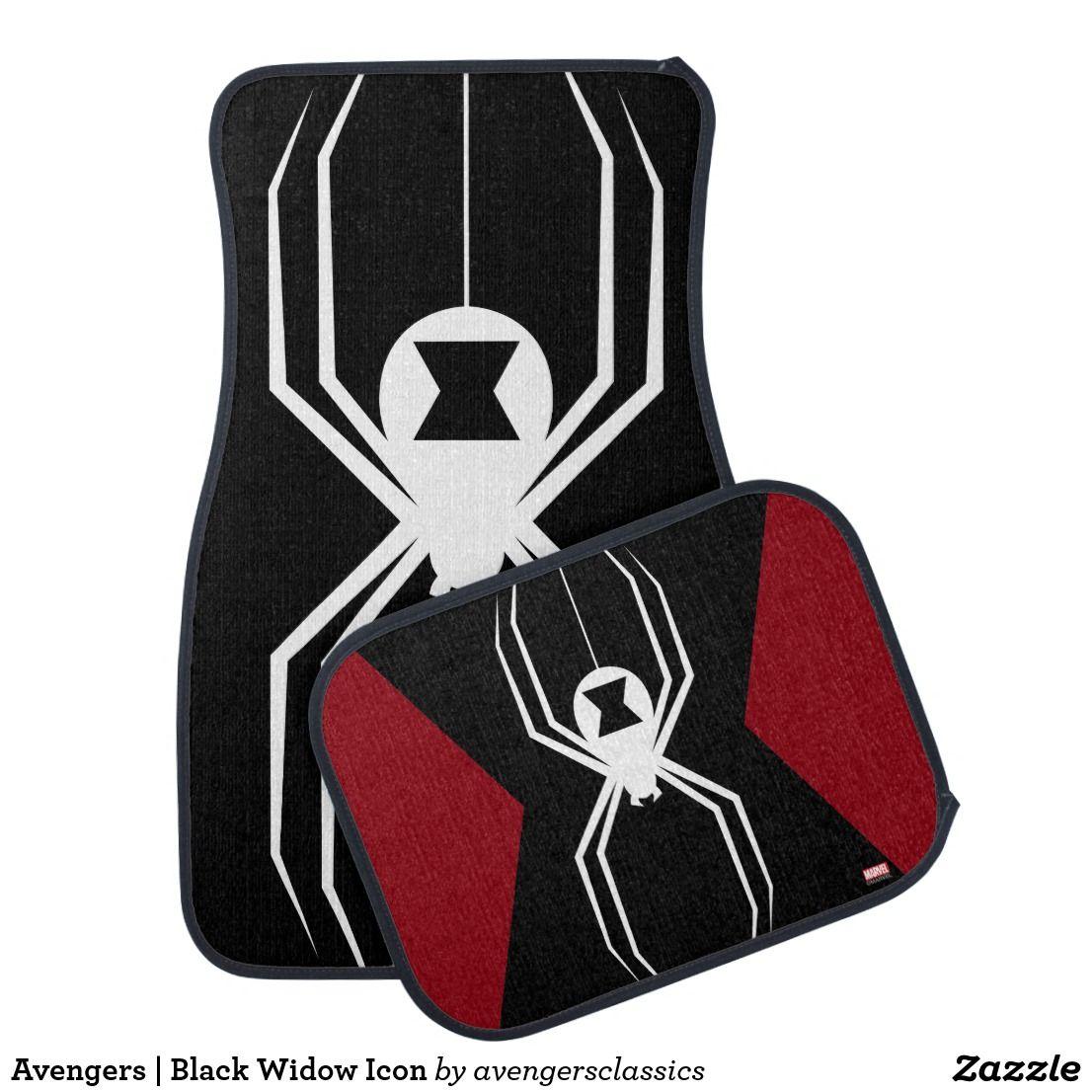 Avengers Black Widow Icon Car Floor Mat Zazzle Com Car Floor Mats Car Icons Floor Mats