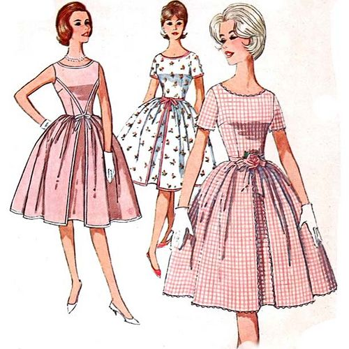 Vintage 1960's summer dress sewing pattern | Dress sewing patterns ...
