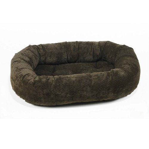 Diamond Microvelvet Donut Pet Bed - Chocolate Bones (Large: 42 x 32 x 9 in.) * Check out the image by visiting the link.