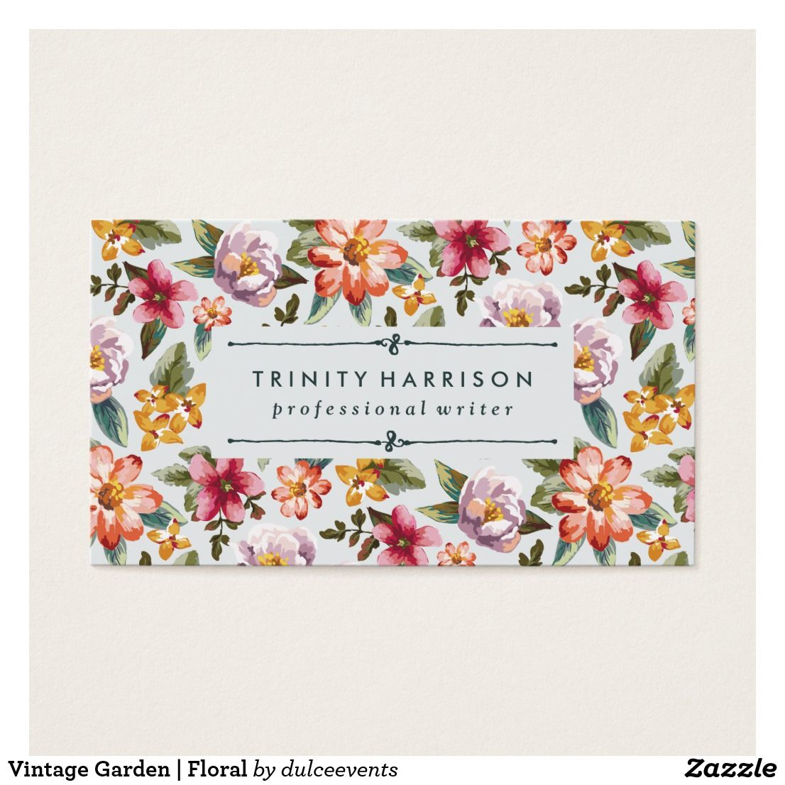 Vintage Garden | Floral Business Card | Business cards and Business
