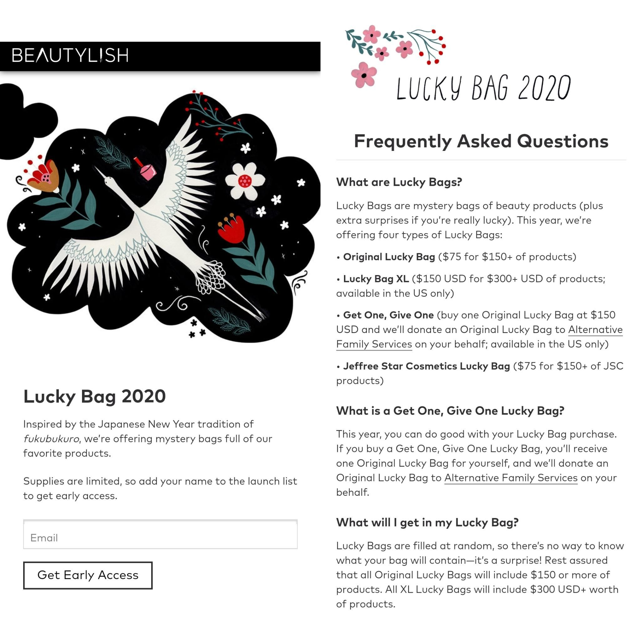 Beautylish LUCKY BAG 2020 sign up for early access! 4