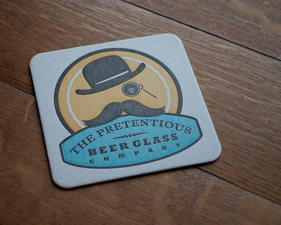 Vintagestyle Coasters Set of 5 by PretentiousBeerGlass on Etsy, $8.00