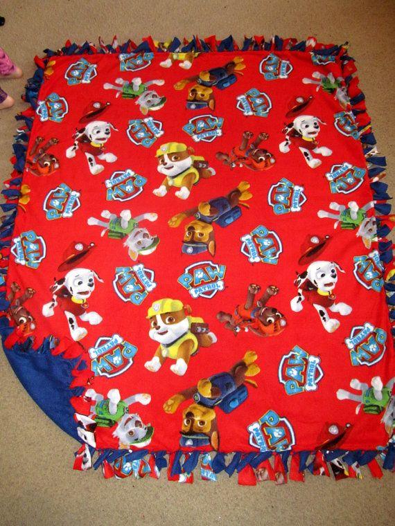 Paw Patrol Fleece Tie Blanket Ella S Birthday Ideas