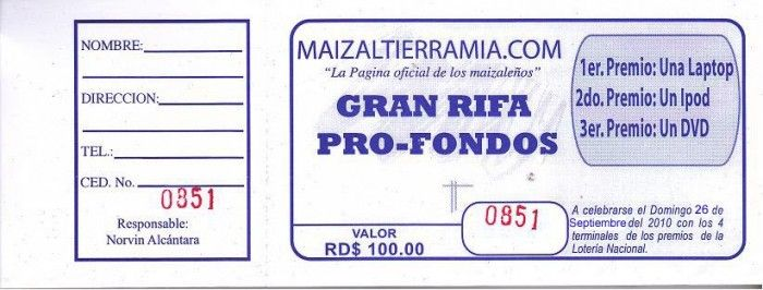 formatos de rifas en word