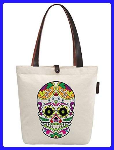 4ebc2957926f So'each Women's Skull Geometry Art Graphic Canvas Handbag Tote ...