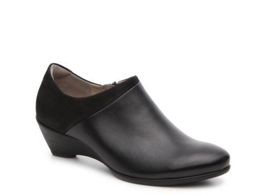 Women's ECCO Sculptured 45 Wedge Bootie Black | Boots