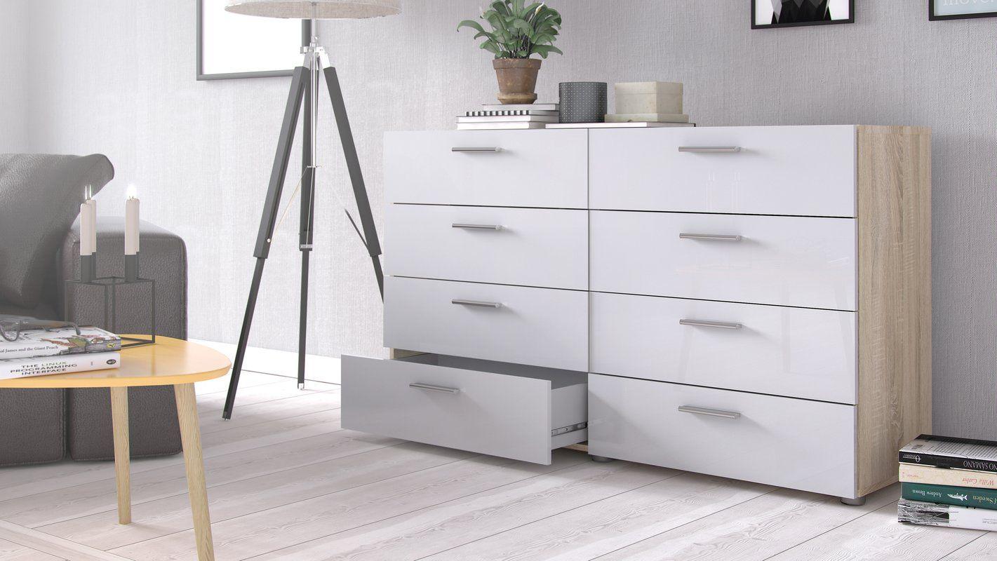 Wade Logan Pannell 8 Drawer Double Dresser Reviews Wayfair Double Dresser Drawers Hotel Interiors [ 800 x 1421 Pixel ]