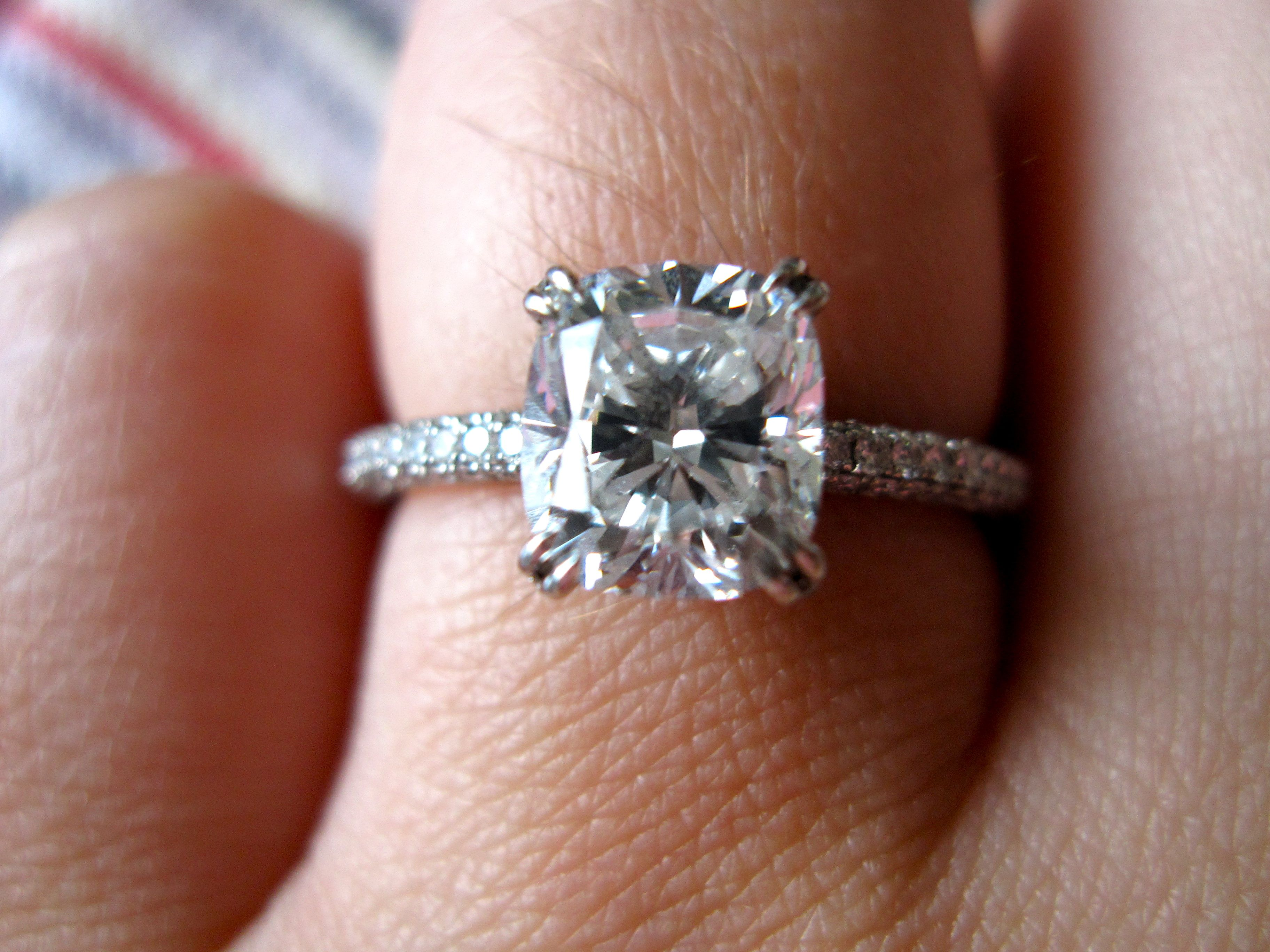 Double Claw Prong Yumminess Mine Cushion Cut