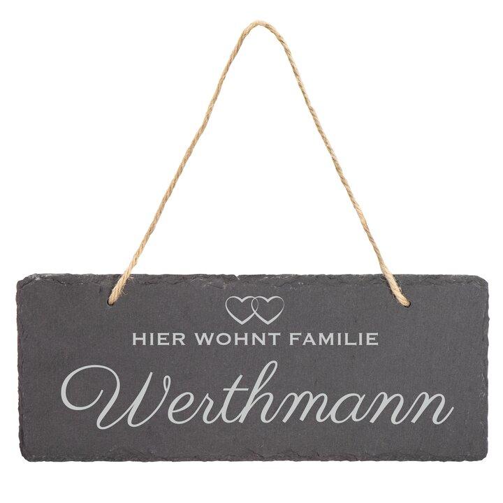 Schiefertafel Grabstein Wunschgravur Schieferplatte Türschild Schieferplatte