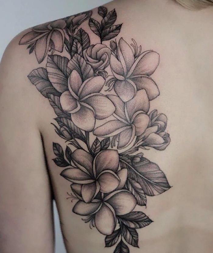 Hawaiian Flower Tattoos Black And White Hawaiiantattoos Frangipani Tattoo Tattoos For Women Flowers Plumeria Tattoo
