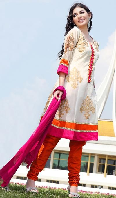 G3 fashions White Cotton Party Wear Designer Salwar Suit  Product Code : G3-LSA104407 Price : INR RS 4630