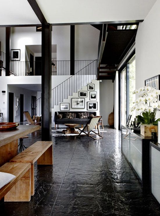 dreamy home desire to inspire desiretoinspire living area room also best misc black floors images design interiors dark flooring rh pinterest