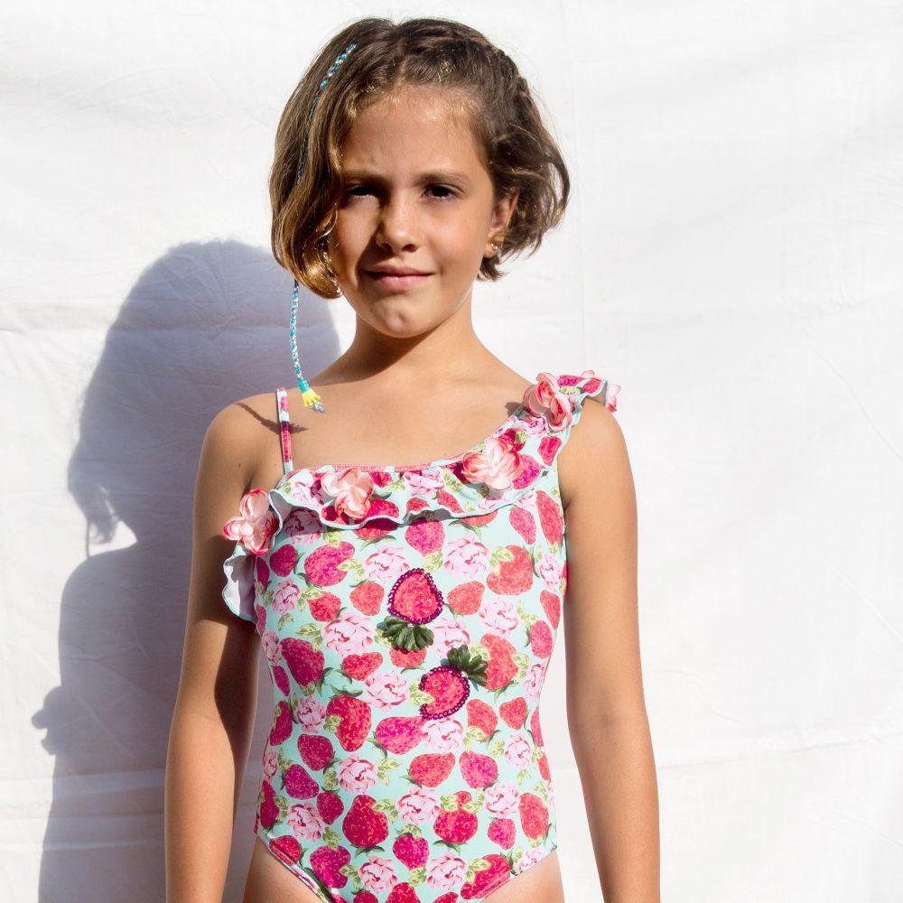 2a388debfd7cc Selini Action - Girls Strawberry Swimsuit | | SWIMWEAR GIRLS BOYS ...