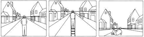 La perspective   Ligne d\'horizon et perspective   Pinterest