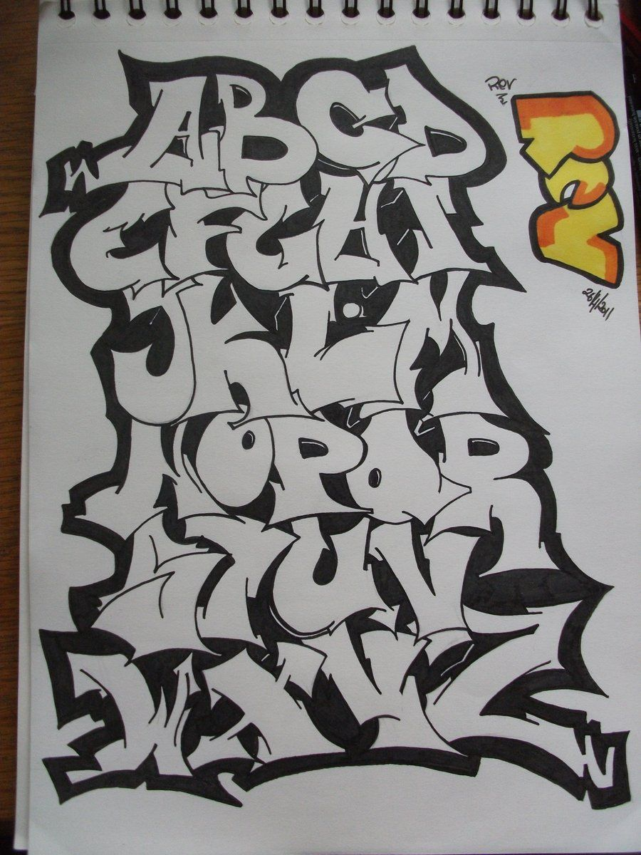 Graffiti alphabet by replicamask on deviantart