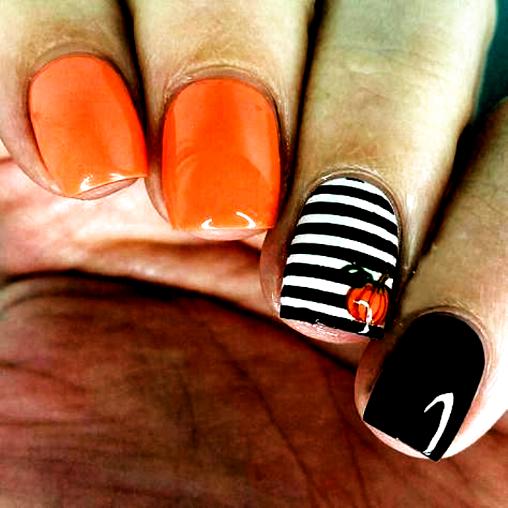 60+ Halloween Nail Art Ideas; Creepy halloween nails; cute ...