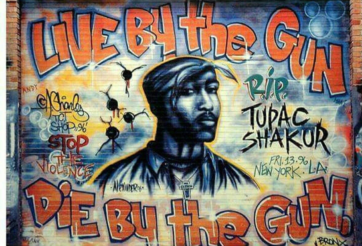 2pac rip graffiti