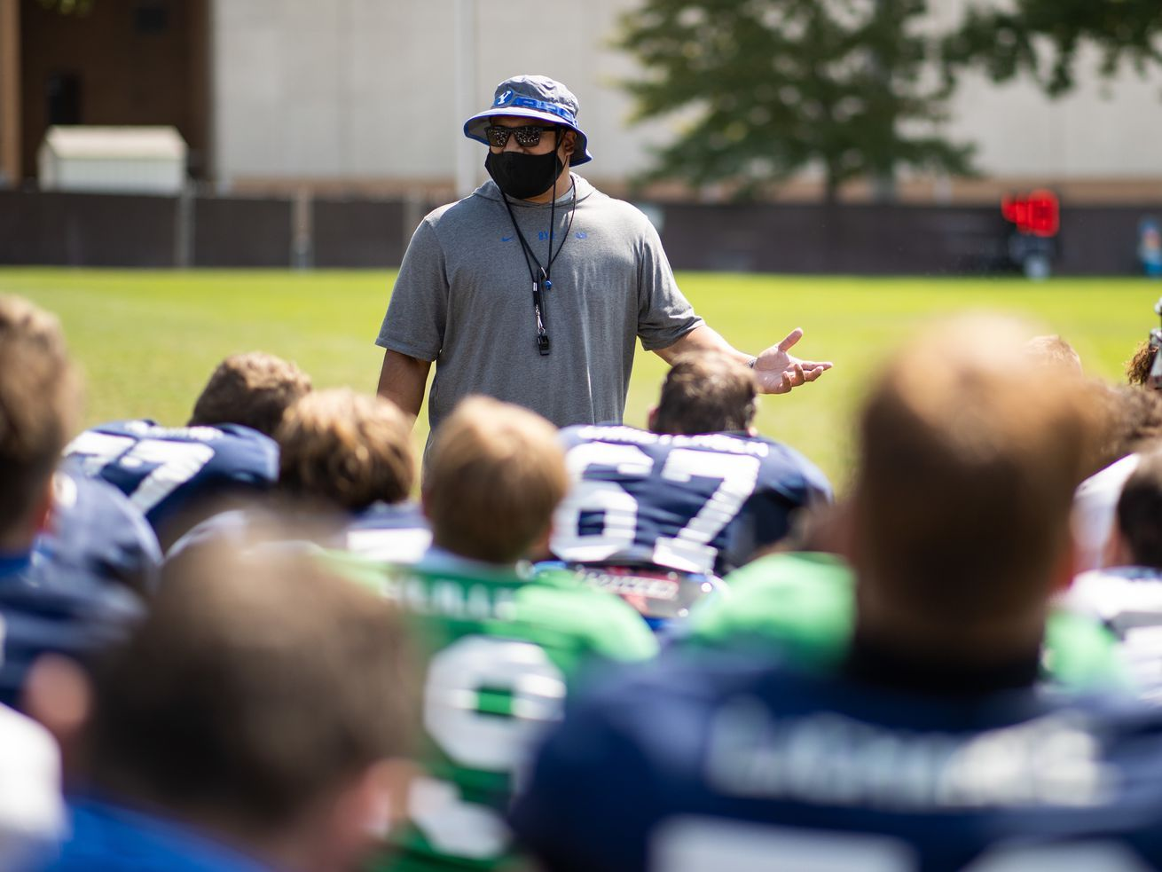 What A Moment Plenty At Stake For Byu Head Coach Kalani Sitake In Season Opener In 2020 Byu Football Navy Football Sports