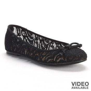 Mudd Lace Ballerina Flats - Women