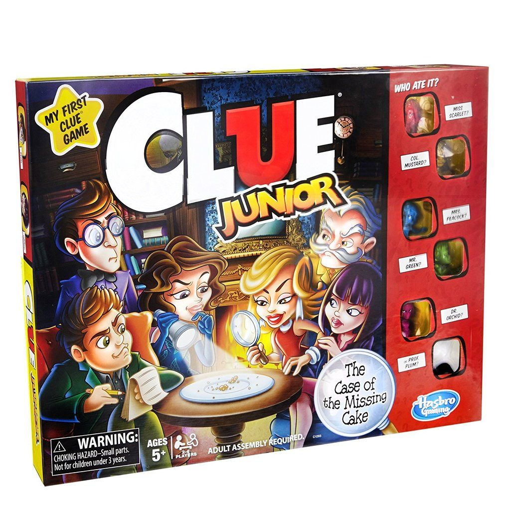 Clue Junior Game Board games for kids, Games for kids