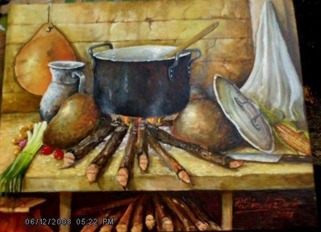 Cuadros de cocinas al oleo bodegones campesinos cuadros - Pintura para cocinas ...