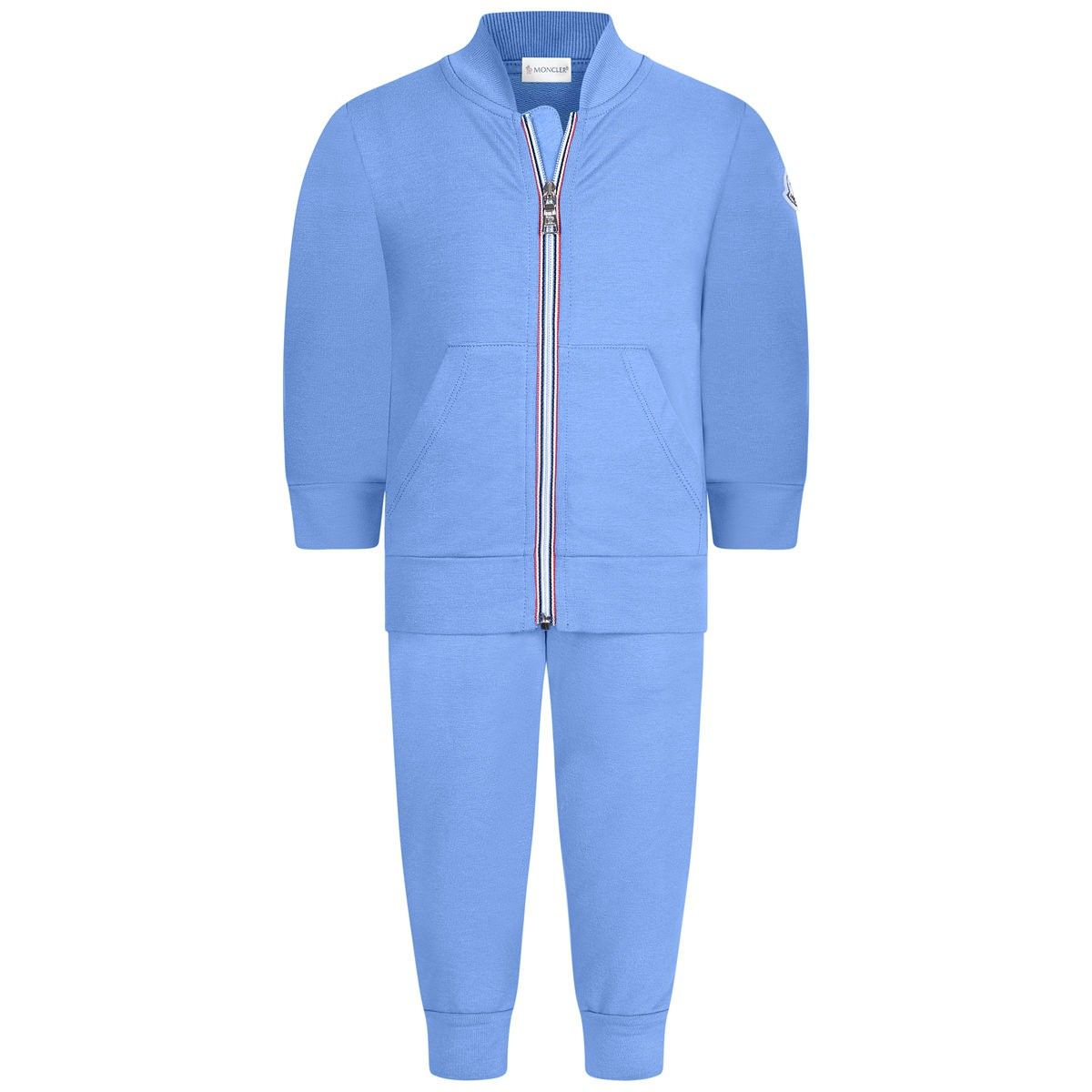 63fa42b96 Moncler Baby Boys Blue Cotton Tracksuit