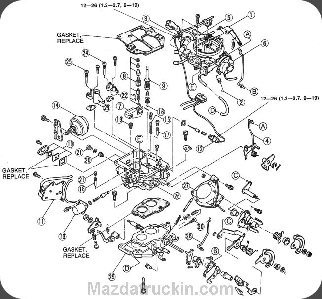 mazda carburetor wiring diagram