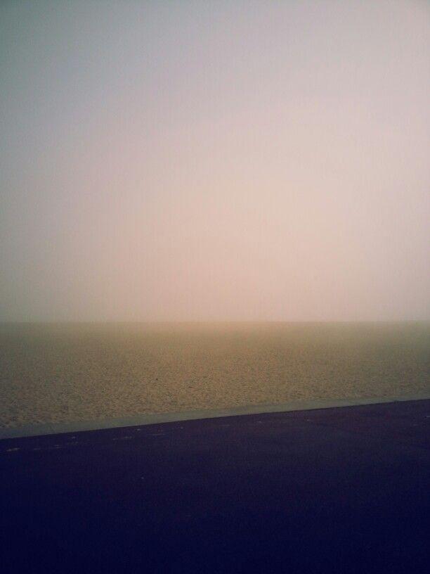 misty sea at yarmouth beach