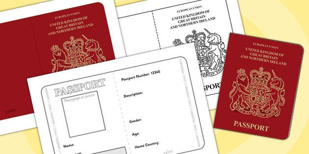 British Passport Template  Passport Design Holiday Holidays