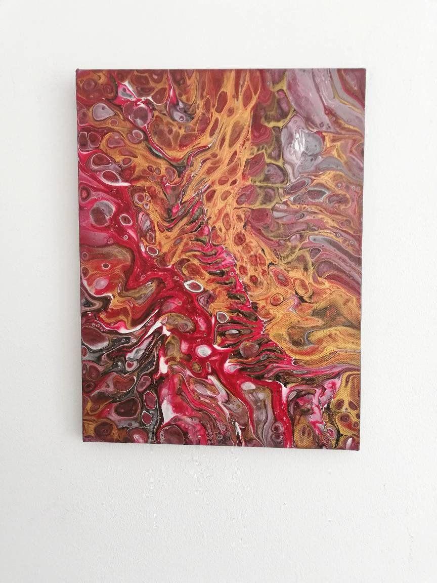 acrylbild auf leinwand pouring art 30x40 cm ein unikat etsy 120x40 poster