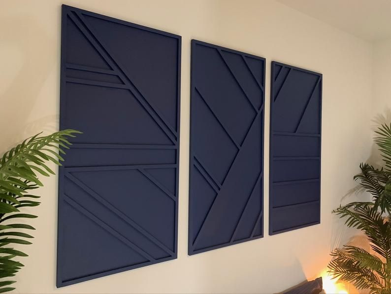 Contemporary Minimalist Wall Art Panels Geometric Wall Art Etsy In 2021 Wall Art Sets Panel Wall Art Etsy Wall Art