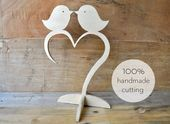 Photo of Love Birds in a heart # legno tagliato a mano – love birds in …