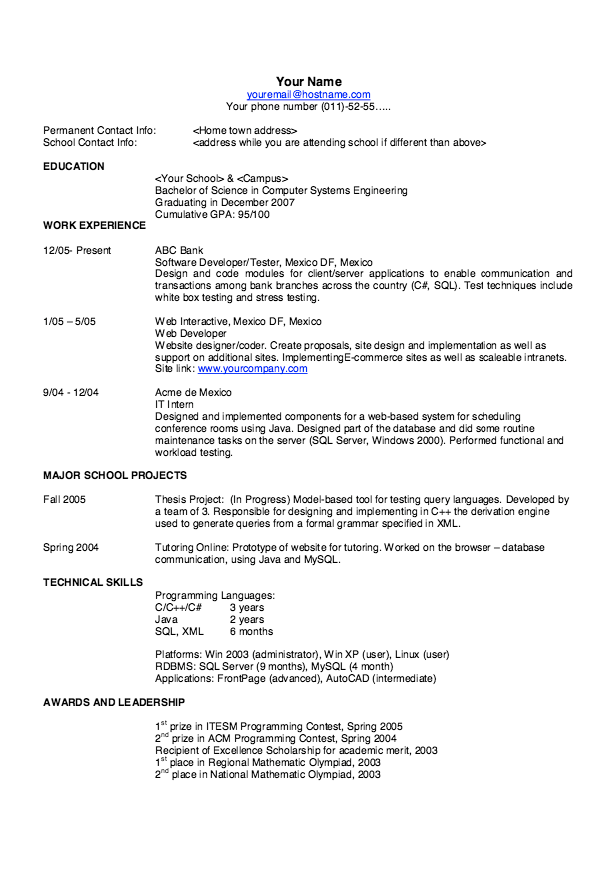 Good It Resume Examples Good Resume Templates Professional  Httpresumesdesigngood