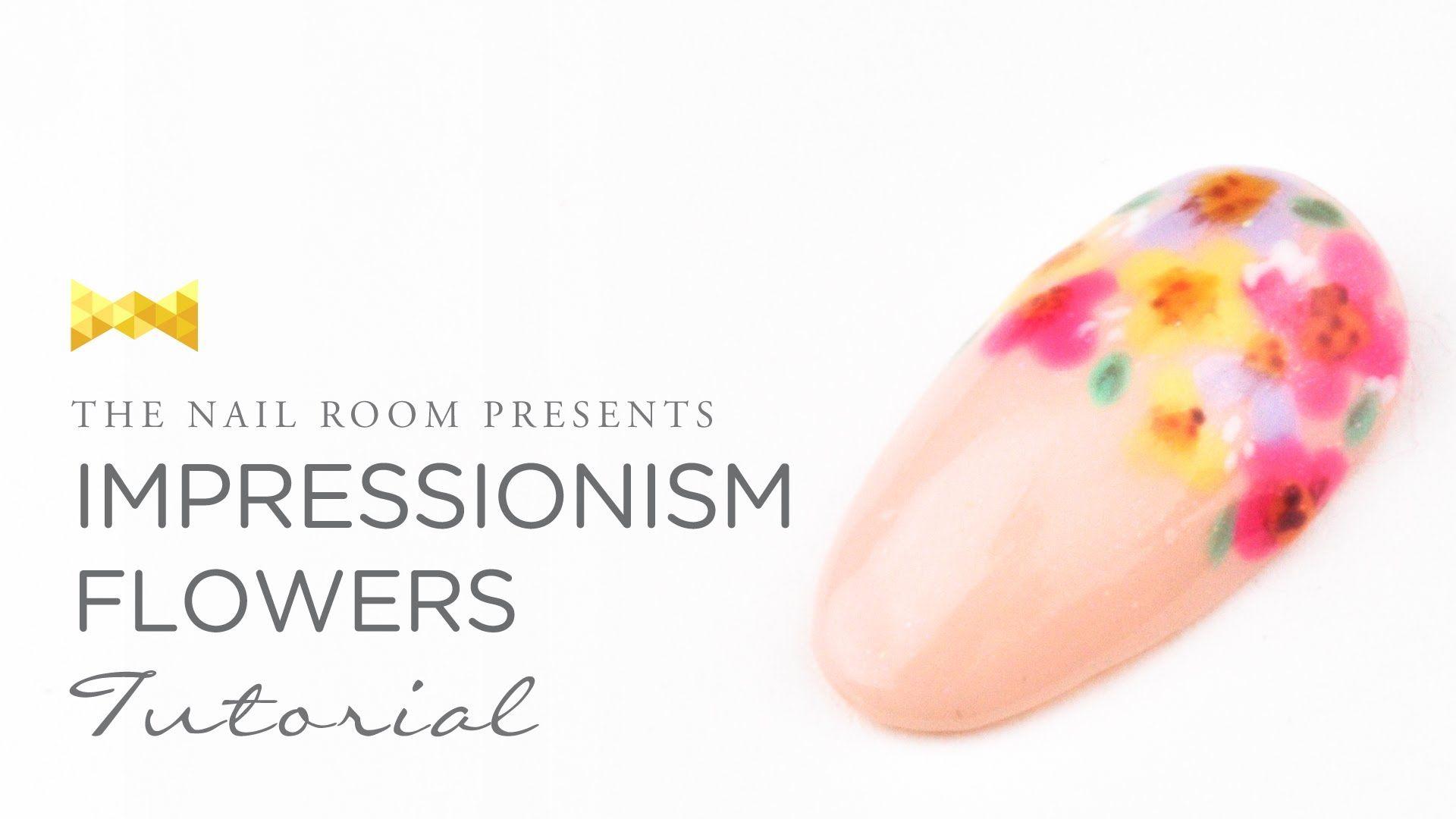 Impressionism Flowers Nail Art - Japanese Nail Art Tutorial [HD]