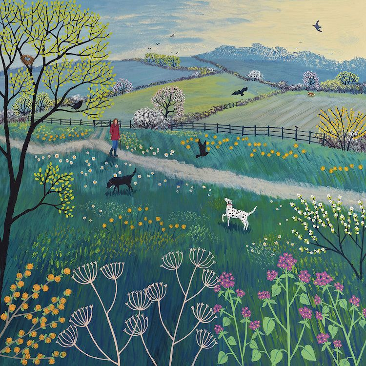 Spring Walk Canvas Artwork by Jo Grundy | iCanvas