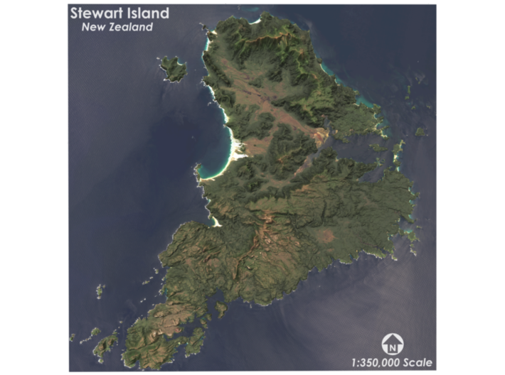 3d Map Of New Zealand.Stewart Island Map New Zealand By Smart Mapps Consulting On 3d