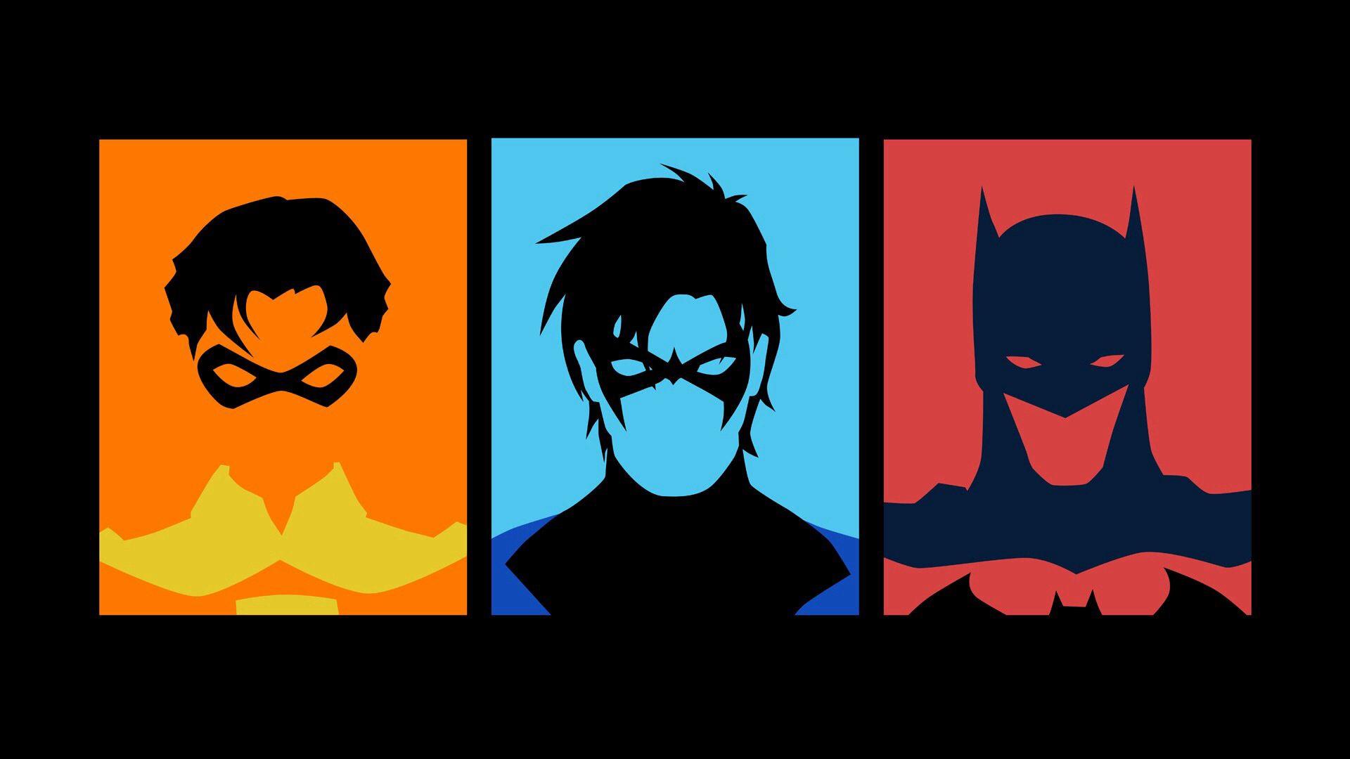 Robin Nightwing and Batman