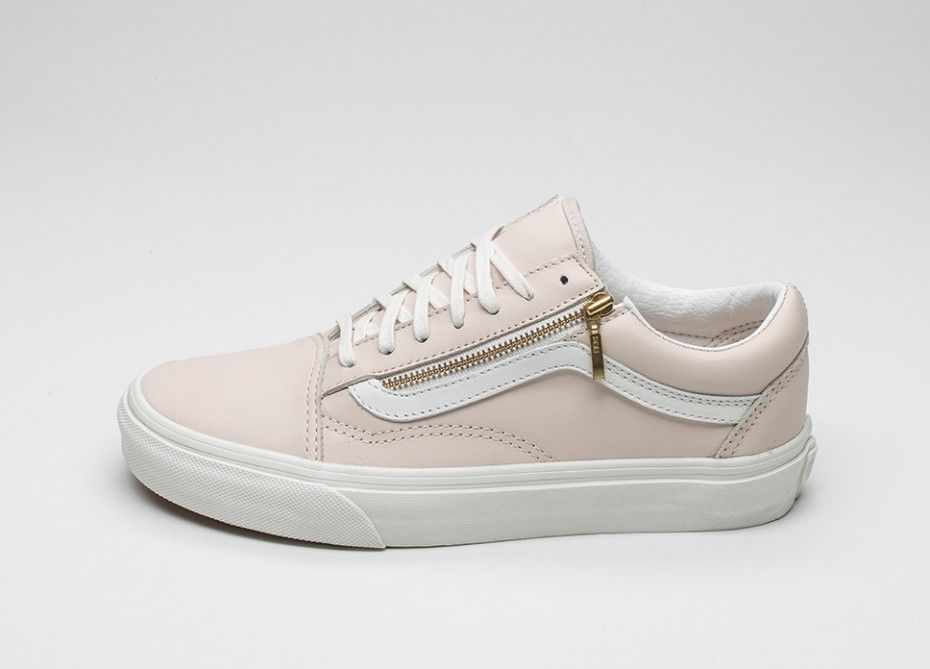 vans old skool rosa leder