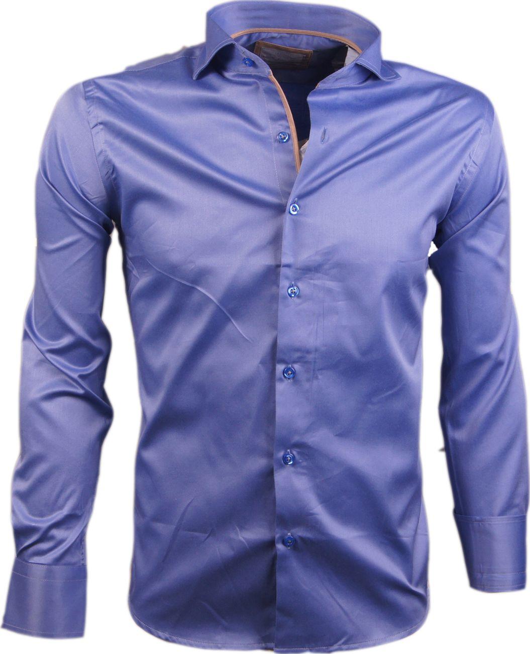 Arya Boy Overhemd.Wam Denim Heren Overhemd Blauw H2557 Menswear For You