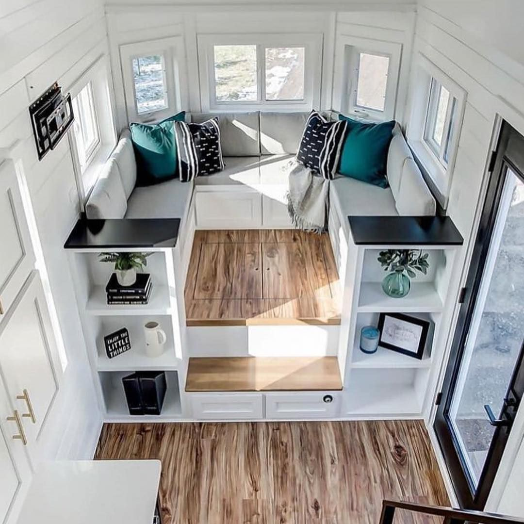 Tiny Living Home Inspiration On Instagram This Is What We Call A Happy Swipe Mention Your Storage Buddy Tinylivingdaily Hom Tiny House Living Tiny House Nation Loft Interiors
