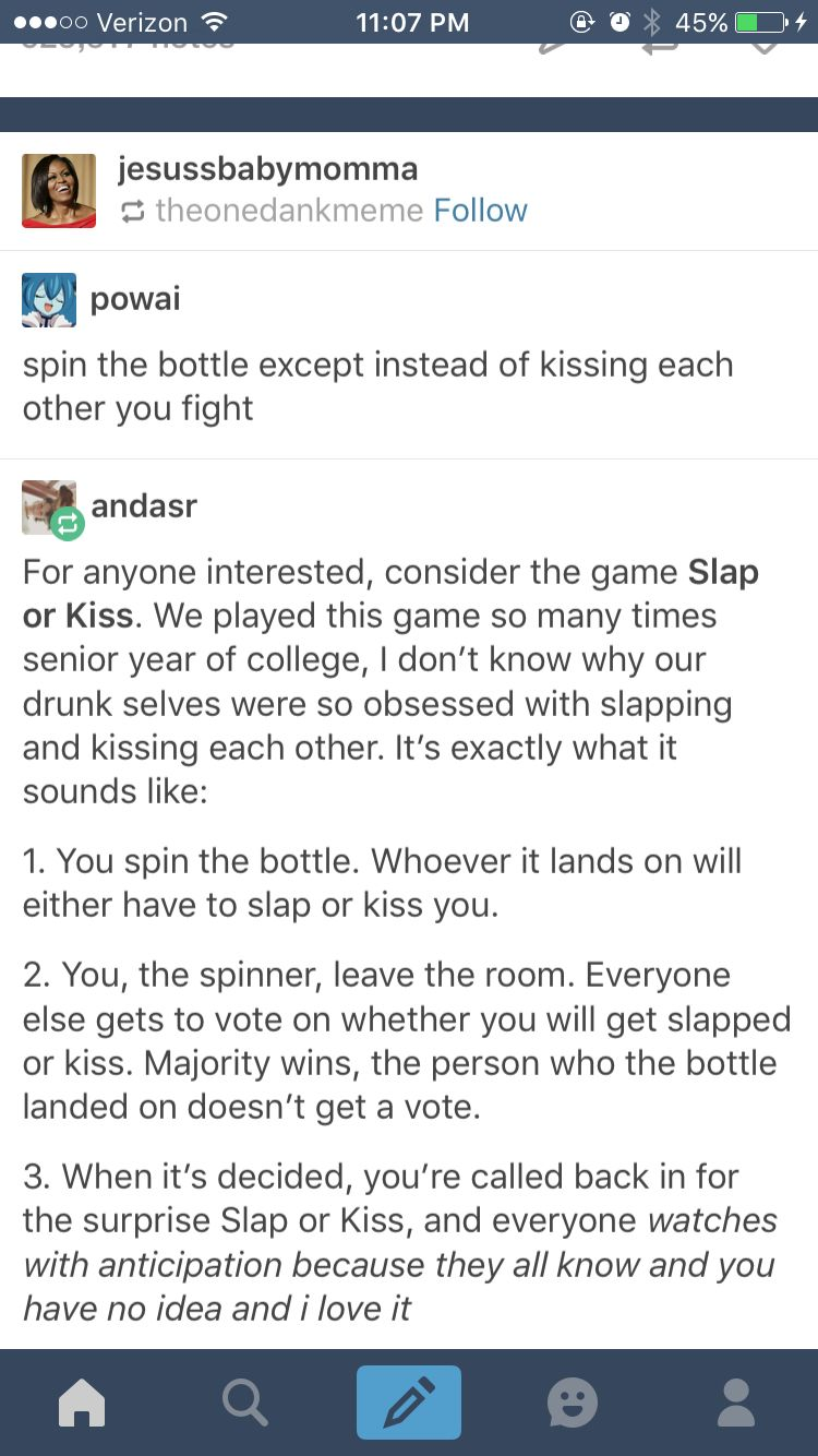 Slap Or Kiss Spin The Bottle Drinking Game Sleepover Games