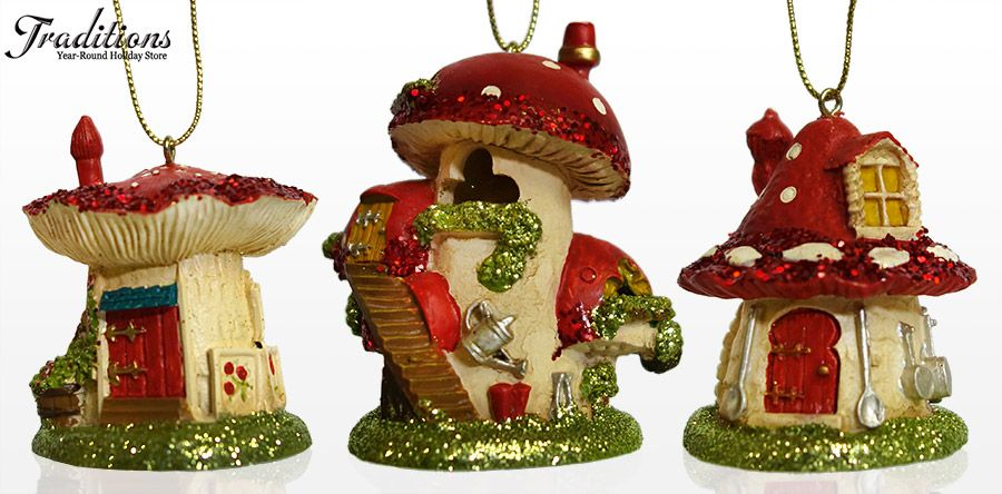Giant Mushroom Homes For Forest Elves Christmas Display Ideas