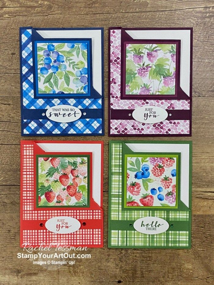 Berry Delightful Corner Fold Cards
