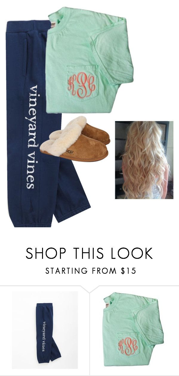 """I.just.want.to cry"" by ehblake ❤ liked on Polyvore featuring Vineyard Vines, UGG Australia, women's clothing, women, female, woman, misses and juniors"