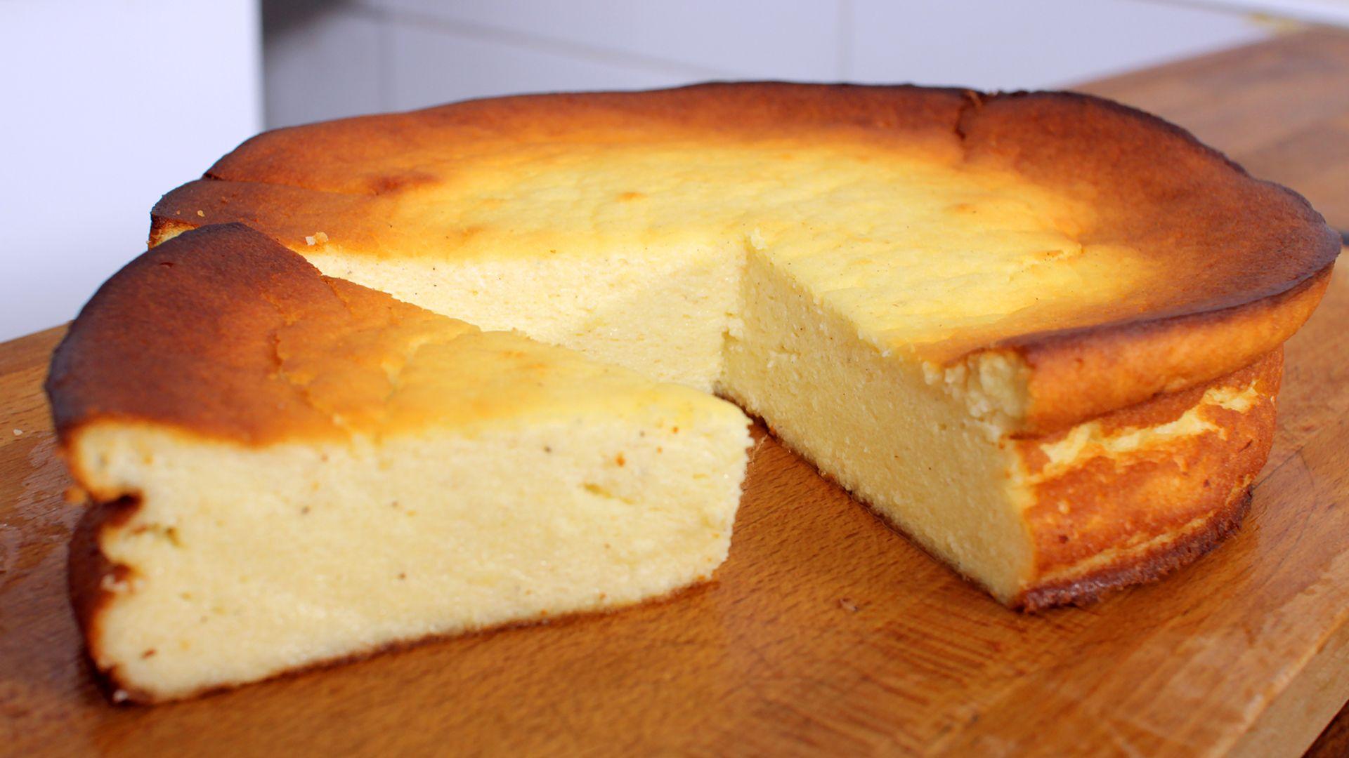 Video und Rezept: Käsekuchen (ohne Boden), ein | Club of Cooks