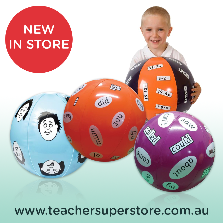Literacy & Maths Balls. Use these inflatable teaching aids to make ...