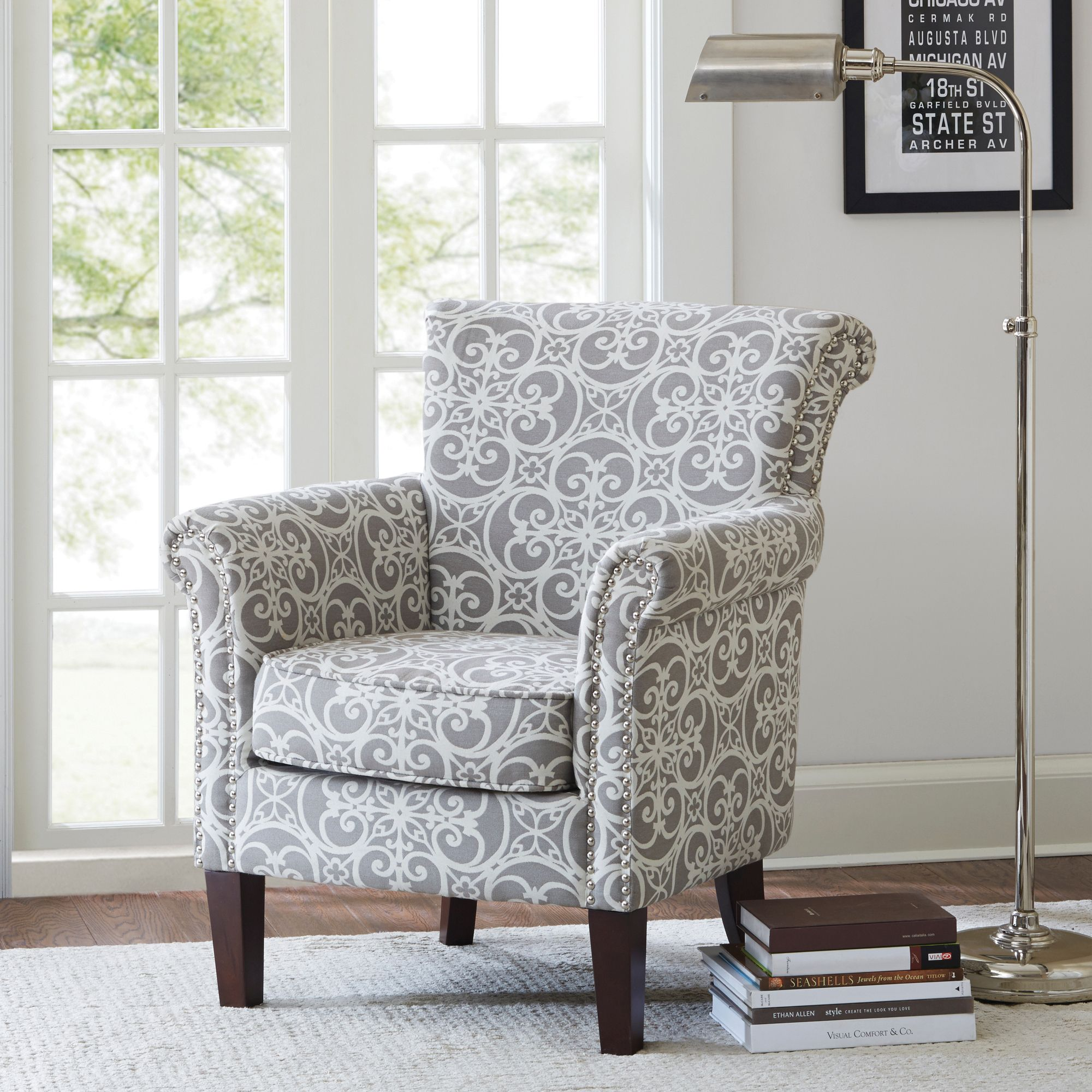 Brooke Accent Chair Club Chairs Living Room Chairs Furniture #overstuffed #living #room #chairs