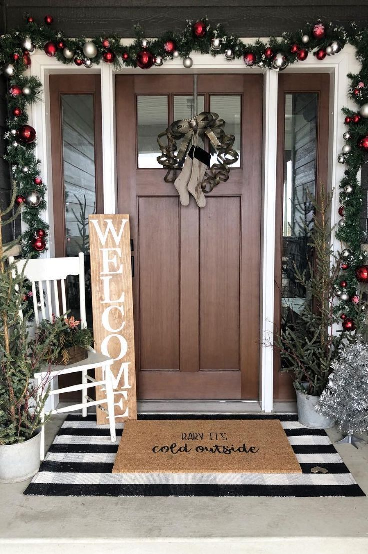 35+ Free Christmas Door Decoration To Make Your Home The Jolliest On The Block New 2020 - Page 4 of 35 #christmasdoordecorationsforwork christmas door; christmas door hangers; christmas door decor; christmas door decorations for work; christmas door wreaths; #christmasdoordecorationsforwork