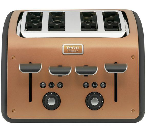 Buy Tefal Maison 4 Slice Toaster Copper At Argos Co Uk Visit Argos Co Uk To Shop Online For